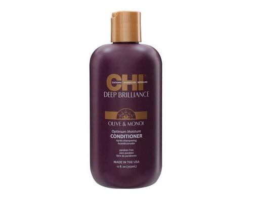CHI Deep Brilliance Olive & Monoi Optimum Moisture Conditioner Кондиционер CHI Увлажняющий для поврежденных волос
