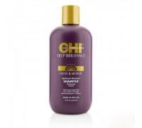 CHI Deep Brilliance Olive & Monoi Optimum Moisture Shampoo Шампунь CHI Увлажняющий для поврежденных волос