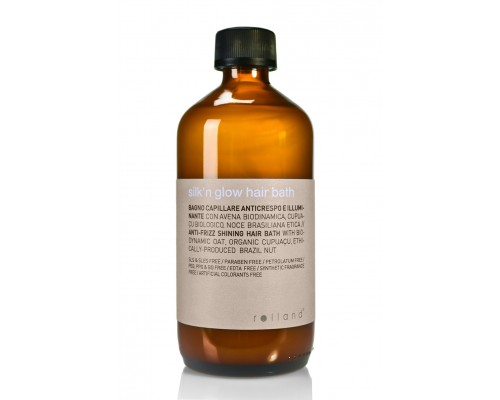 Organic Way Rolland Silk'n Glow Hair Bath Шампунь Organic Way для блеска и гладкости волос
