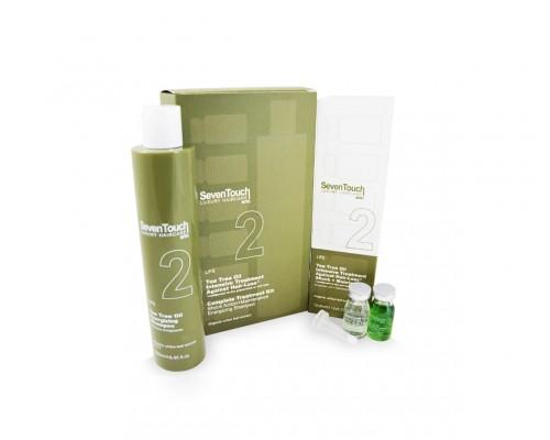 2. Seven Touch Shampoo + Shock Action + Maintenance Punti di Vista Комплекс средств против выпадения волос с маслом чайного дерева