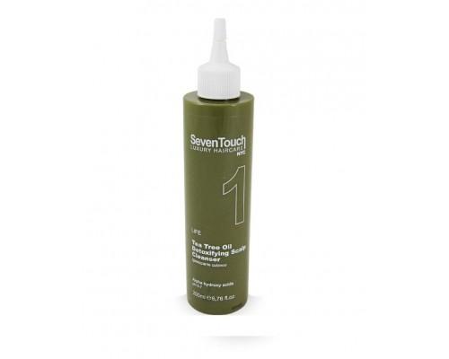 1. Seven Touch Detoxifying Scalp Cleanser Punti di Vista Очищающее Детокс-средство от перхоти для жирной кожи головы с маслом чайного дерева и AHA-кислотами