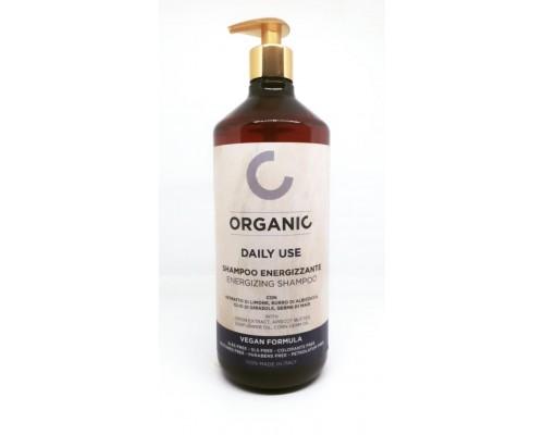 Organic Vegan Formula Daily Use Energizing Shampoo Punti di Vista Энергетический бессульфатный шампунь для частого использования c экстрактом лимона и маслами абрикоса, семян подсолнечника, зародышей кукурузы