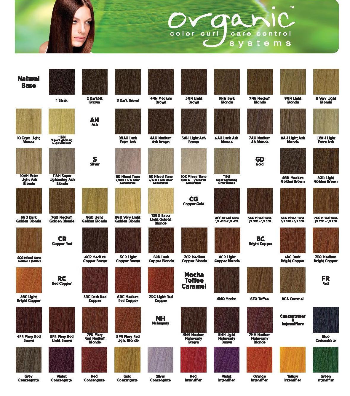 Organic colour systems краска для волос палитра